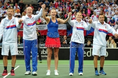 Fed Cup match between Czech Republic v Switzerland