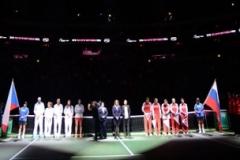 Fed Cup final match between Czech Republic vs Russia