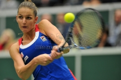 Fed Cup World Group match between the Czech Republic and Spain in Ostrava.
