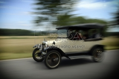 Old-time take part meeting of historic cars manufactured before 1918 in Lazne Belohrad