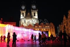 Signal Festival of Lights at Old Town Square in Prague