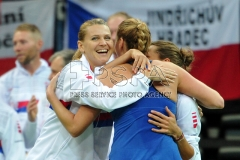 Fed Cup match between Czech Republic v Switzerland in Prague