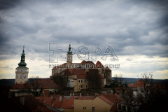 Old town centre and castle Mikulov