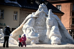 The town of Jilemnice boasts a snow sculpture of the legendary Krakonos giant