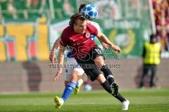 Sparta's Matej Hanousek (R) fight for ball with Mlada Boleslav's Pavel Bucha