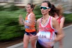 Runners competes in the women's 20km walk of the International match and EA Race Walking Permit Meeting