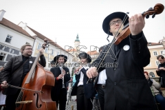The Jewish musicians in a traditional carnival