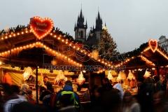 Traditioneller Weihnachtsmarkt im Prag.