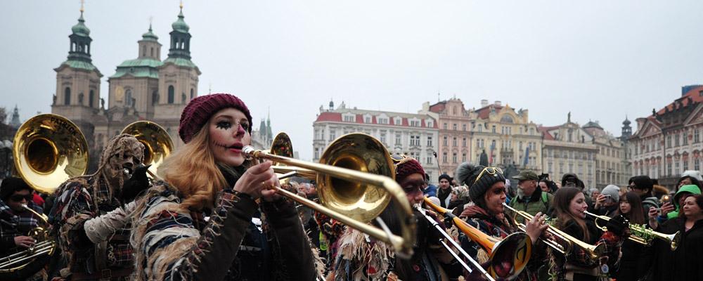Eurokarneval a XXV. festival Guggemusik v Praze