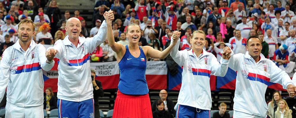České tenistky postupují do semifinále Fed Cupu po výhře nad Švýcarkami